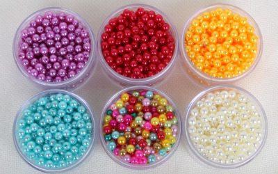 Mua hạt nhựa giả pha lê – hạt nhựa giá rẻ làm vòng, rèm cửa trang trí