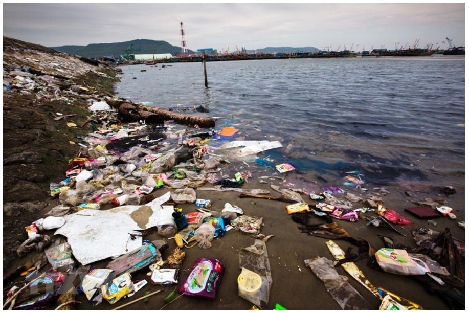 Rác thải nhựa trên bờ biển chính là một trong những vấn nạn hiện nay